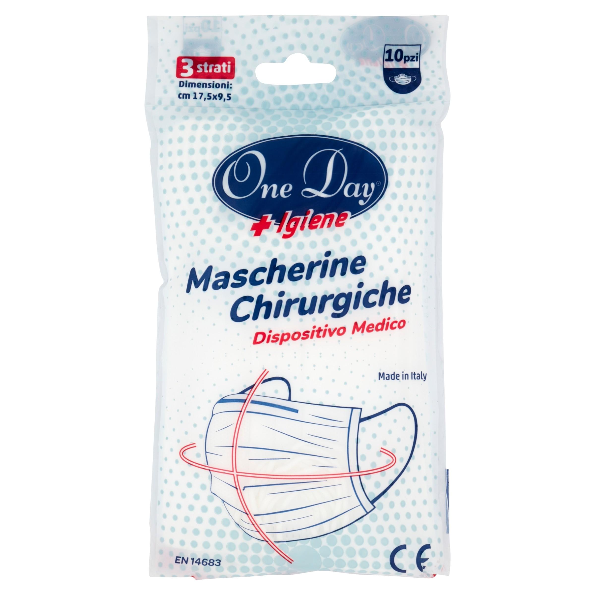 MASCHERINE CHIRURGICHE TIPO IIR 10 PZ