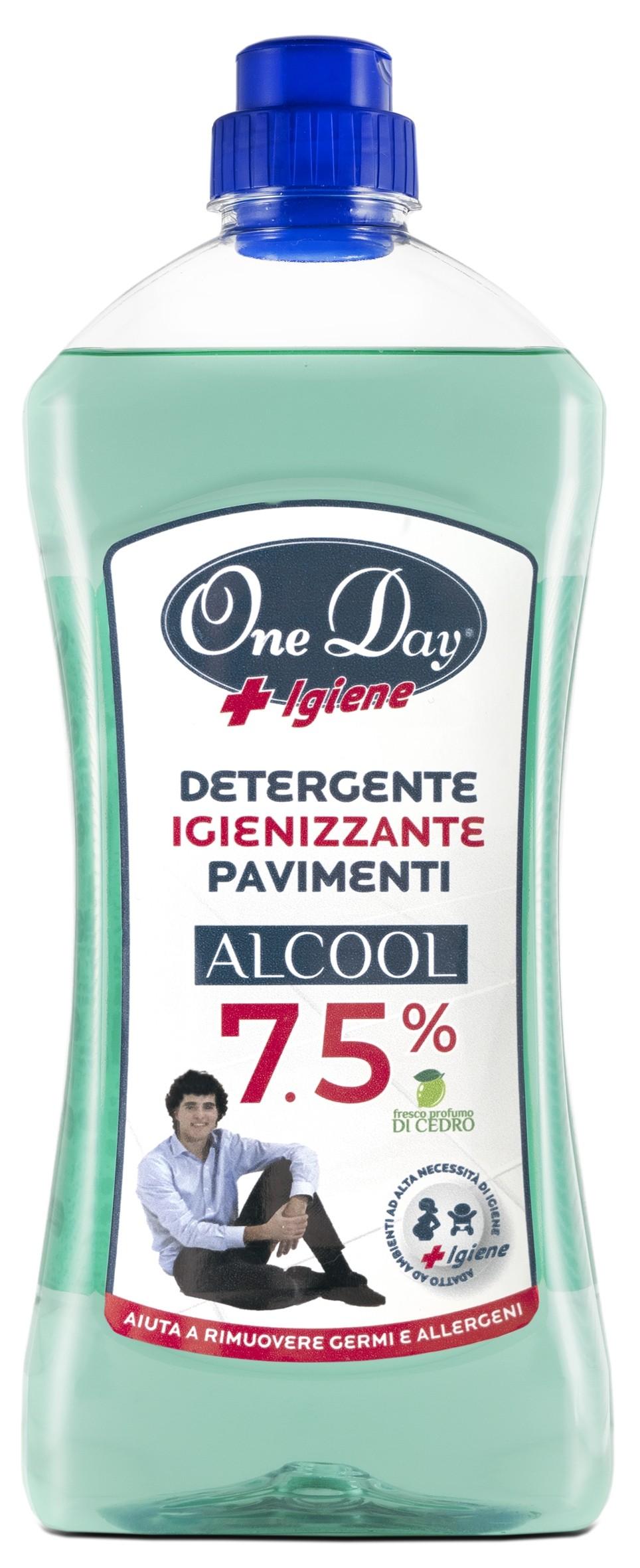 DETERGENTE IGIENIZZANTE PAVIMENTI ALCOOL 7.5%